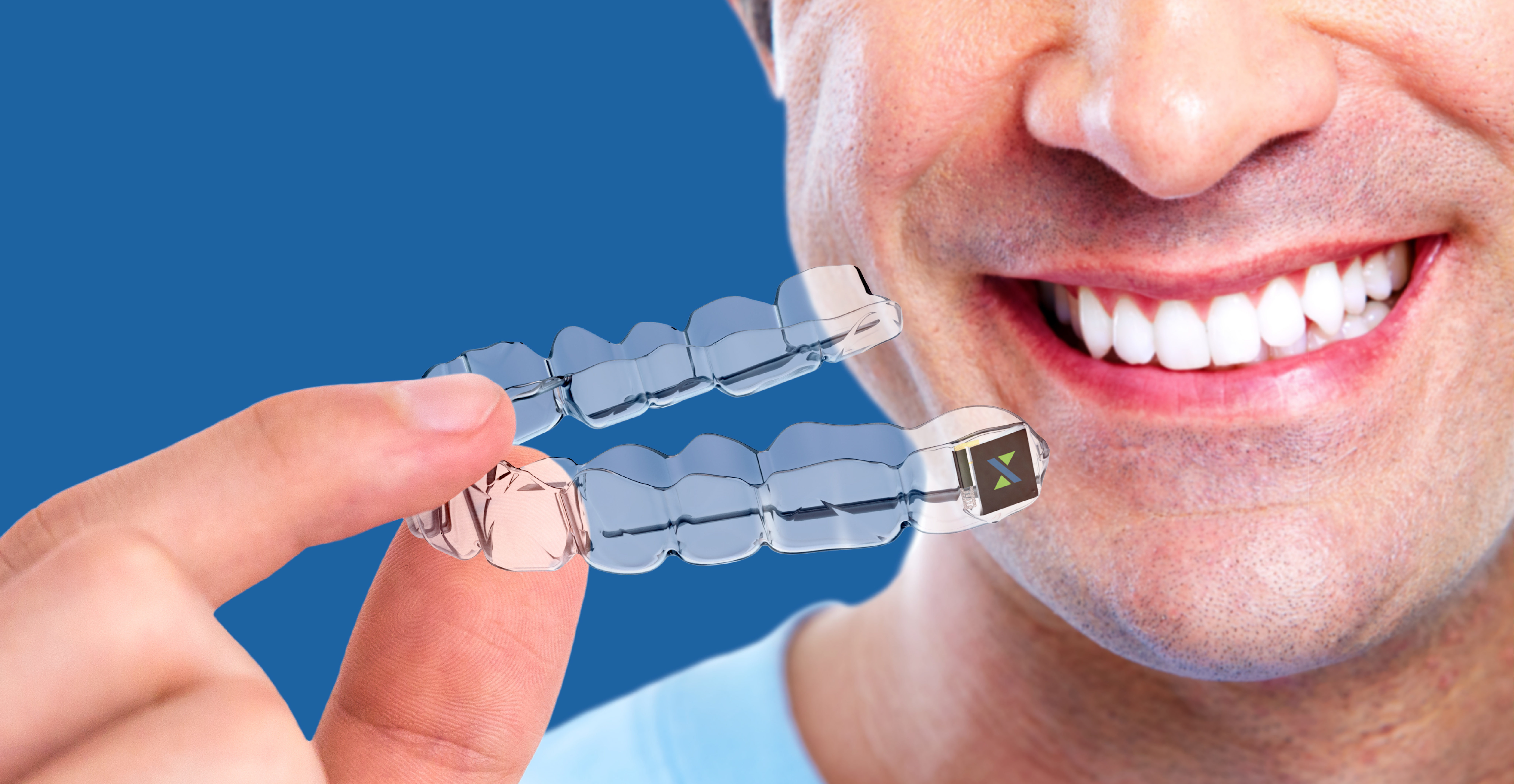 Vision of Stereax M50 powering smart dental brace